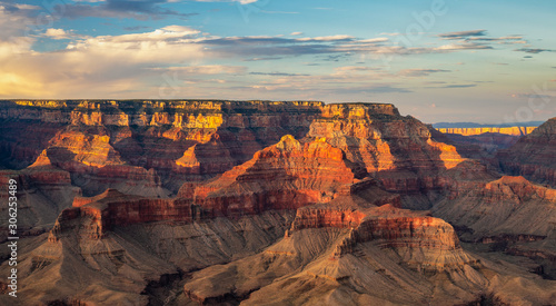 Fototapety, obrazy: Setting sun, Grand Canyon National Park - Shoshone Point