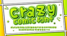 Comic Font. Cartoonish Alphabe...