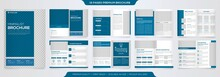 Set Of Minimalist Business Brochure Template With Simple Style And Modern Layout