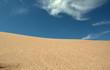 Leinwandbild Motiv sand dunes and blue sky