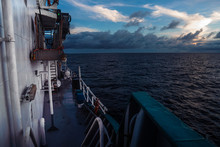 View From Ship Or Vessel Deck ...