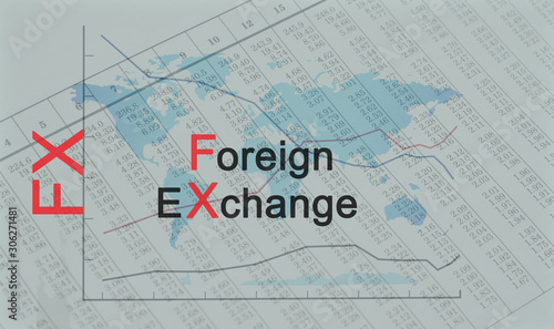 Valokuva Acronym FX - Foreign Exchange