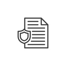 Document Protection Line Icon....
