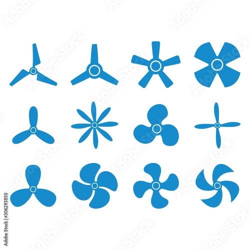 propeller icon vector design symbol Wall mural