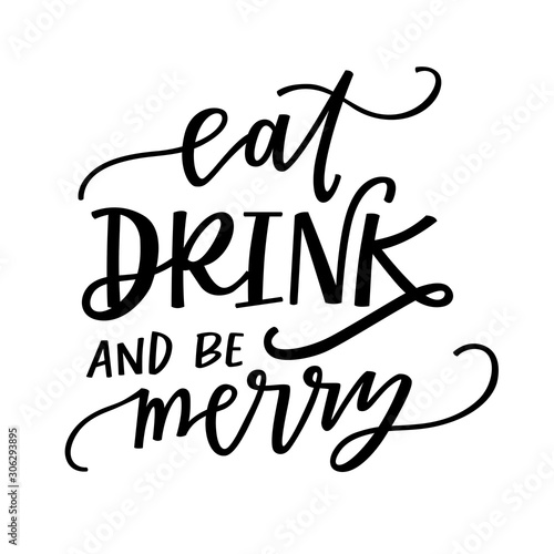 Stampa su Tela Eat, drink and be merry