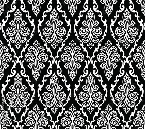 bezszwowa-czarno-biala-tapeta-adamaszku