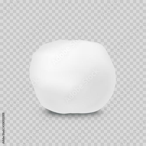 Fotografie, Obraz Snowball isolated on transparent background