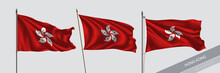 Set Of Hong Kong Waving Flag O...