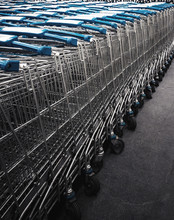 Stack Of The Shopping Carts