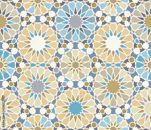 Photo Islamic seamless pattern, zellige ornament.