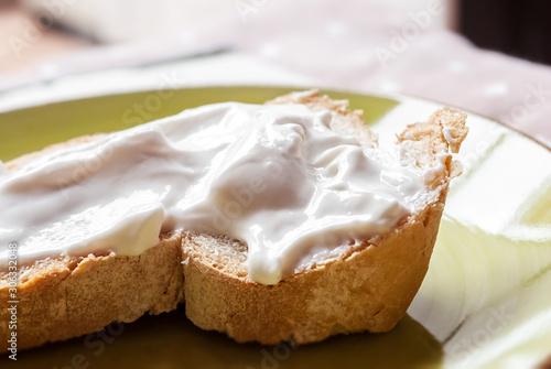 Pane integrale con formaggio di soia spalmabile Wallpaper Mural
