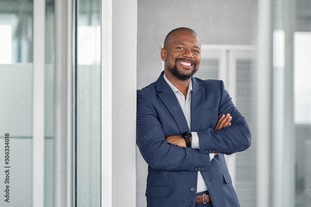Fototapeta Successful businessman in modern office