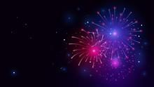 Fireworks Illustration Vector Background