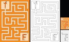 Easy Alphabet Maze - Letter F