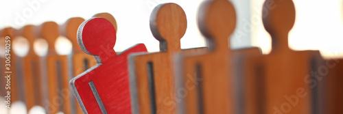 Fotografía Male red plastic toy businessman silhouette