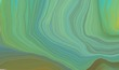 modern soft swirl waves background illustration with cadet blue, medium turquoise and olive drab color