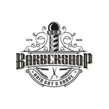 Barbershop Logo Vintage Classi...