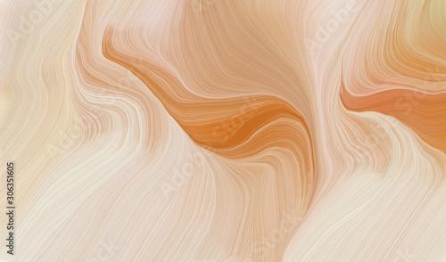 Naklejki abstrakcyjne  smooth-swirl-waves-background-design-with-baby-pink-peru-and-dark-salmon-color