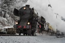 Christmas Steam Train On A Gra...