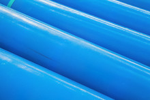 Stack Of New Blue Pipes (tubes)
