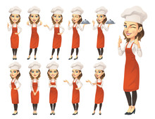 Female Chef Character Set