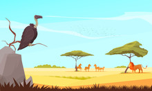 Safari Wild Animals Flat Compo...