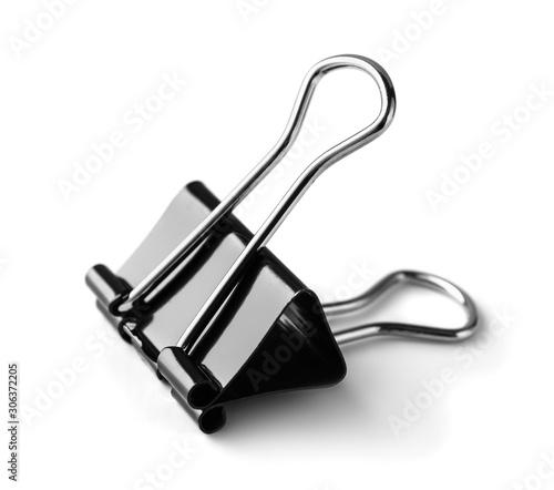 Photo Black metal paper clip