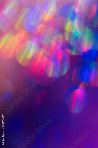 Holographic neon abstract background