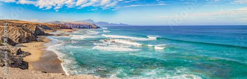 Photo  Atlantik Traumbucht an der Westküste von Fuerteventura Playa del Viejo Rey / Spa
