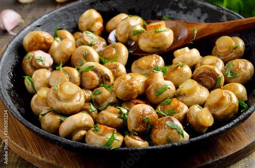 Fototapeta Delicious fried mushrooms obraz