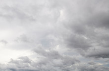 Grey Clouds Are Covering Blue Sky.