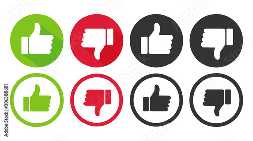 Fotografie, Obraz Like and dislike icons collection vector