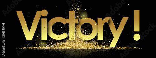 Fototapeta victory in golden stars background