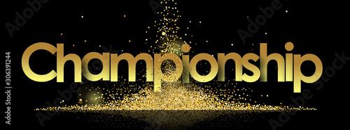 Fotografía  Championship in golden stars background