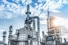 Industrial Of Oil And Gas Refinery Plant.