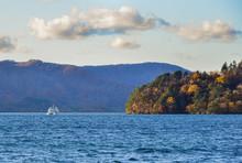 Lake Towada At Autumn In Aomor...
