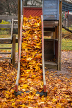 Empty Old Children Slide With ...