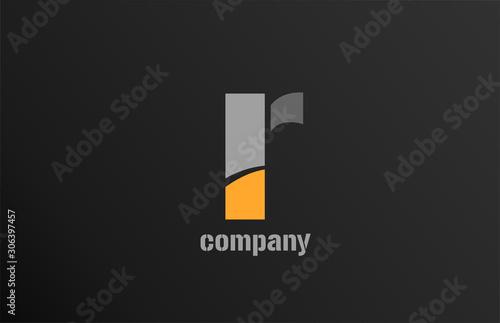 Fotomural  letter r alphabet icon logo shape for business company design