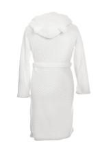 Soft Comfortable Bathrobe On Mannequin Against White Background