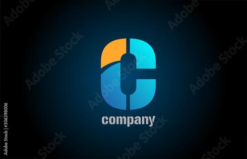 Cuadros en Lienzo  letter c alphabet icon logo shape for business company design