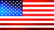 Illustration image of American (USA) flag - 3D rendering