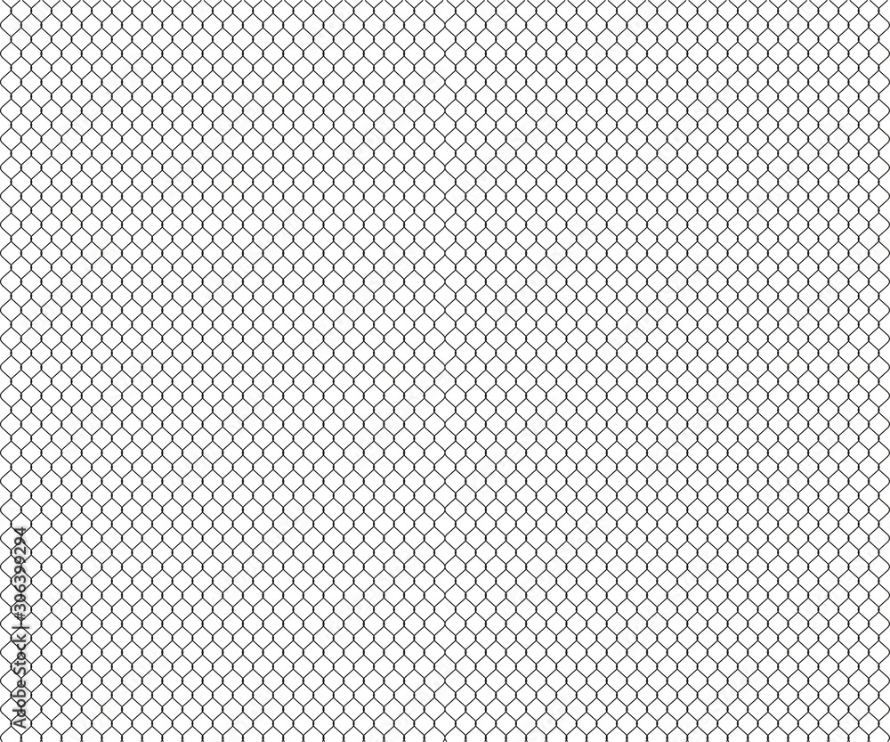 Fototapeta mesh polygons seamless background, white pattern, vector