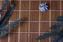 Christmas Decoration On A Bamb...