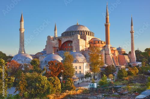 View to Hagia Sofia, beautiful historic landmark in Sultanahmet, Istanbul