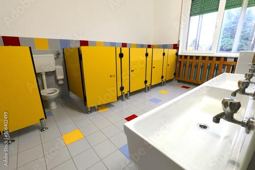 Fototapeta bathroom of school