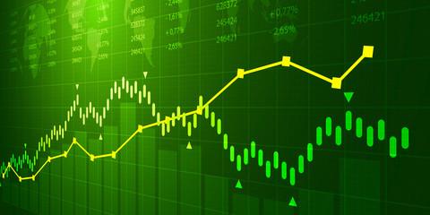 grafico, economia, finanza, azioni, mercato