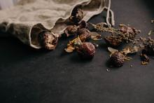 Soap Nut Texture. Nature Cosmetic. Eco Friendly Alternative
