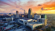 canvas print picture Raleigh, North Carolina, USA Drone Skyline Aerial