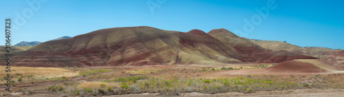 Valokuva  Panorama of Painted Hills in Eastern Oregon