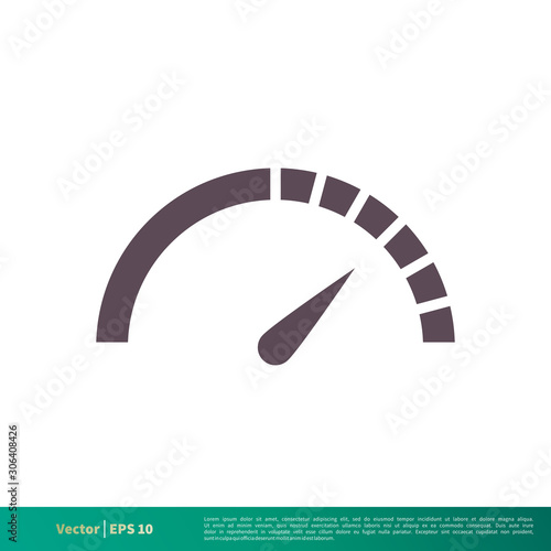 Photo Speedometer Icon Vector Logo Template Illustration Design